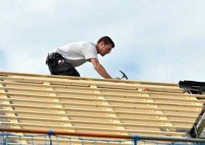 Dachdeckung am Steildach